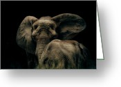 Arne J Hansen Greeting Cards - Mother and Child Greeting Card by Arne Hansen