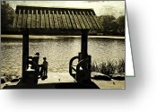 Lake Park Greeting Cards - Mother and Child - Special Moment Greeting Card by Madeline Ellis
