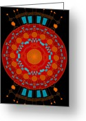 Mayan Art Greeting Cards - Mother color Greeting Card by Dean Caminiti
