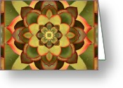 Green. Organic Greeting Cards - Mother Lotus Greeting Card by Bell And Todd