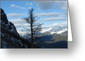 Rows Of Peaks Greeting Cards - Mother Natures Canvas Greeting Card by Greg Hammond