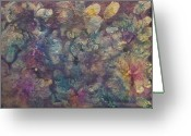 Chromatic Painting Greeting Cards - Mother of Pearl Greeting Card by Don  Wright