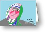 Mother Teresa Greeting Cards - Mother Teresa Greeting Card by Anita Dale Livaditis