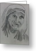 Mother Teresa Greeting Cards - Mother Teresa Greeting Card by Monika