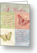 Greeting Card Greeting Cards - Mothers Day Butterfly card Greeting Card by Debbie DeWitt