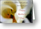 Sentiments Greeting Cards - Mothers Day Card Edged Greeting Card by Cindy Wright