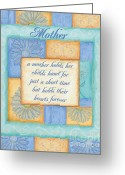 Peach Greeting Cards - Mothers Day Spa card Greeting Card by Debbie DeWitt