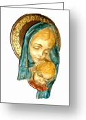 Religious Art Ceramics Greeting Cards - Mothers Love Greeting Card by Bruce Iorio