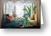 Looking Greeting Cards - Mothers Love Greeting Card by Greg Olsen