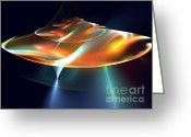 Round Shell Digital Art Greeting Cards - Mothership Greeting Card by Kim Sy Ok