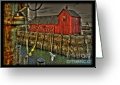 Rockport Ma Greeting Cards - Motif No.1 Greeting Card by Frank Garciarubio