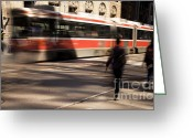 Long Street Greeting Cards - Motion 0711 Greeting Card by Igor Kislev