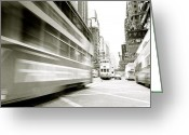 Hustle Bustle Greeting Cards - Motion in Hong Kong Greeting Card by Shaun Higson