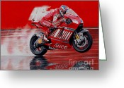 Motogp Greeting Cards - motoGP alice ducati Greeting Card by Raoul Alburg