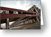 Patrician Greeting Cards - Motor City Industrial Park The Detroit Packard Plant Greeting Card by Gordon Dean II