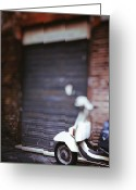 Scooter Greeting Cards - Motor Scooter Greeting Card by Joana Kruse