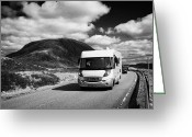 Campervan Greeting Cards - Motorhome On The A82 Road In Glencoe Highlands Scotland Uk Greeting Card by Joe Fox
