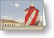 Warn Greeting Cards - Mouille Point Lighthouse Greeting Card by Benjamin Matthijs