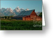 Mountain Summit Greeting Cards - Moulton Barn I visit www.AngeliniPhoto.com for more Greeting Card by Mary Angelini