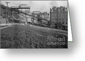 Incline Greeting Cards - Mount Adams Inclined Railroad in Cincinnati 1905 Greeting Card by Padre Art