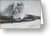 Locomotive Greeting Cards - Mount Carmel Eruption Greeting Card by David Mittner