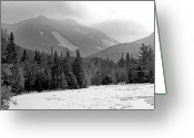 Mountain Summit Greeting Cards - Mount Colden during winter from Marcy Dam in the Adirondack Mountains Greeting Card by Brendan Reals