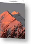 Snow Capped Digital Art Greeting Cards - Mount Cook Range on South Island in New Zealand Greeting Card by Mark Duffy