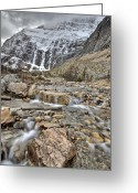 Edith Greeting Cards - Mount Edith Cavell Greeting Card by Mark Duffy