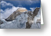 Camp Greeting Cards - Mount Everest-kala Patar-everest Base Camp Trek-ne Greeting Card by Copyright Michael Mellinger