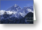 Rudi Prott Greeting Cards - Mount Everest Nepal Greeting Card by Rudi Prott