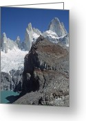Rudi Prott Greeting Cards - Mount Fitzroy Patagonia Greeting Card by Rudi Prott