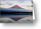 No People Greeting Cards - Mount Fuji Greeting Card by Japan from my eyes