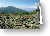 Appalachian Trail Greeting Cards - Mount Jefferson - White Mountains New Hampshire  Greeting Card by Erin Paul Donovan