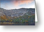 Baxter Park Greeting Cards - Mount Katahdin from Chimney Pond in Baxter State Park Maine Greeting Card by Brendan Reals
