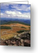 Appalachian Trail Greeting Cards - Mount Moosilauke Summit Greeting Card by John Burk