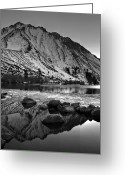 Mountain Laurel Greeting Cards - Mount Morrison and Convict Lake Monochrome Greeting Card by Scott McGuire