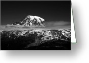 Glacier Greeting Cards - Mount Rainier Greeting Card by David Lee Thompson