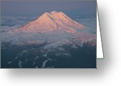 Physical Geography Greeting Cards - Mount Rainier, Wa Greeting Card by Professional geographer who loves to capture landscapes