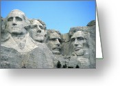 Theodore Greeting Cards - Mount Rushmore Greeting Card by American School