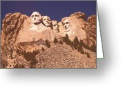 National Drawings Greeting Cards - Mount Rushmore and Black Hills Greeting Card by Peter Art Prints Posters Gallery