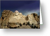 Wall Calendars Greeting Cards - Mount Rushmore Greeting Card by Brent Parks