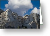 Gop Greeting Cards - Mount Rushmore Elephant Greeting Card by John Haldane