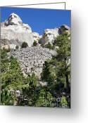 Sculture Greeting Cards - Mount Rushmore II Greeting Card by Teresa Zieba