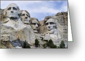 Theodore Greeting Cards - Mount Rushmore National Monument Greeting Card by Jon Berghoff