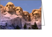 Lincoln Greeting Cards - Mount Rushmore Greeting Card by Olivier Le Queinec