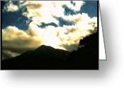 Prestigeclass Greeting Cards - Mount Snowdon & Sky, Taken From The Car Greeting Card by Rachel-Avalon Brightside