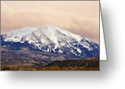 Colorado Mountains Greeting Cards - Mount Sopris Greeting Card by Marilyn Hunt