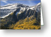 Forested Greeting Cards - Mount Timpanogos Greeting Card by Utah Images