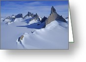 Image Type Photo Greeting Cards - Mount Ulvetanna And Fenris Mountains Greeting Card by Gordon Wiltsie