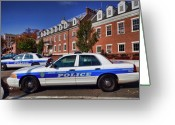 Law Enforcement Greeting Cards - Mount Vernon Police Department Greeting Card by June Marie Sobrito